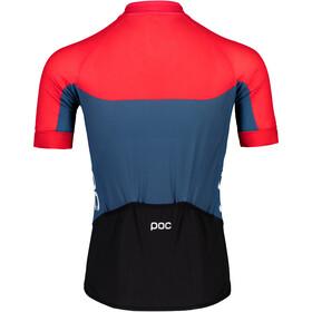 POC Essential Road Light Jersey Men lead blue/prismane red
